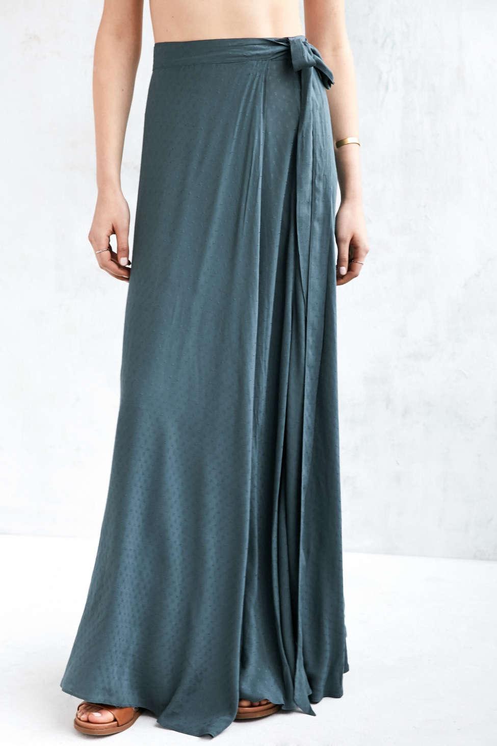 Ecote Zella Boho Wrap Maxi Skirt