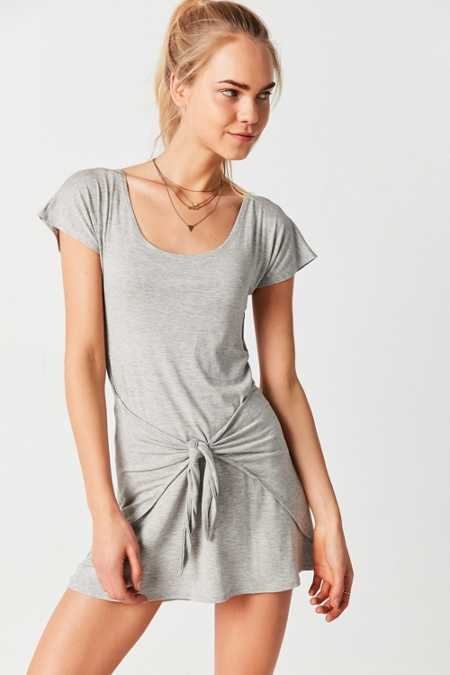 Silence + Noise Tie-Waist T-Shirt Dress