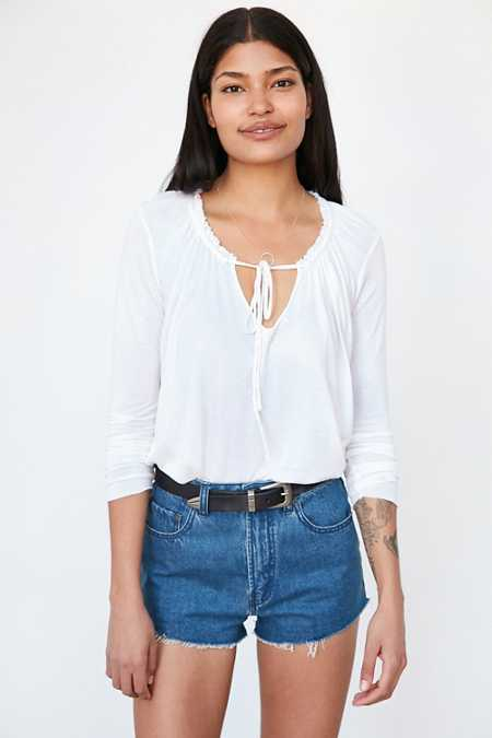 Truly Madly Deeply Dawn Tie-Front Blouse