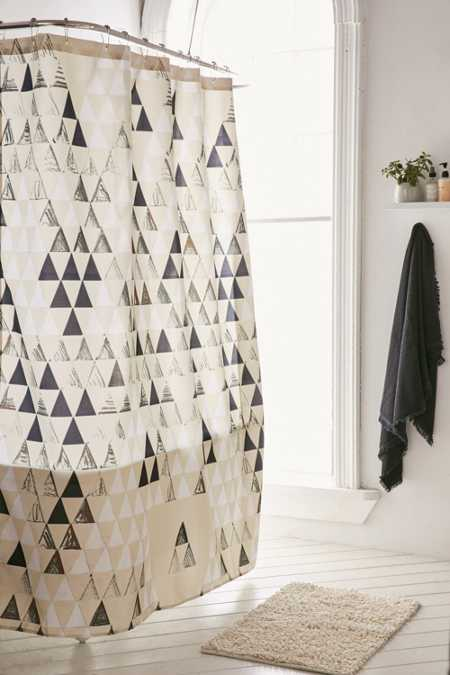 Pattern State For DENY Triangle Shower Curtain