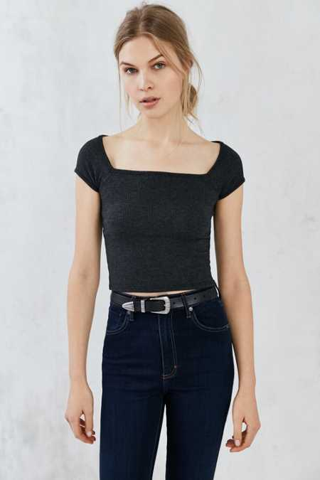 Truly Madly Deeply Lily Square-Neck Tee
