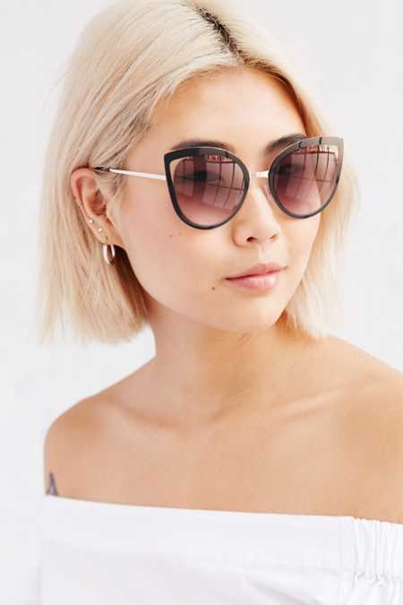 Brigitte Cutout Cat-Eye Sunglasses
