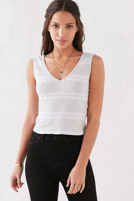 BDG Britt Rib V-Neck Tank Top