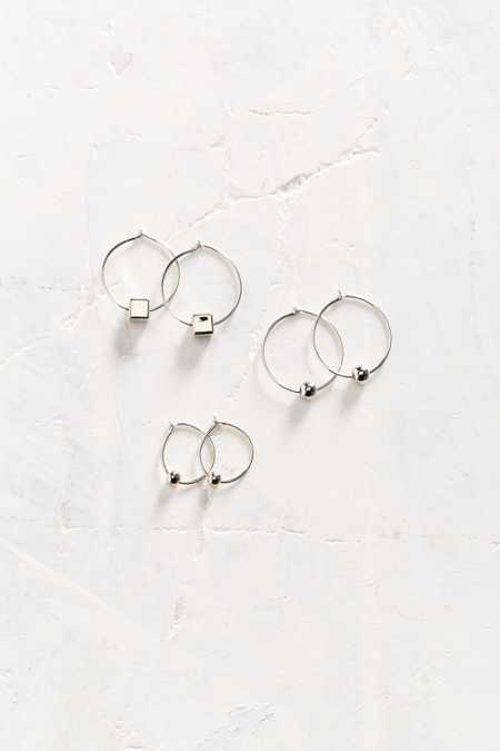 Charmed Metal Hoop Earring Set