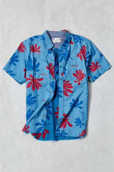 Vans X Joel Tudor Montauk Floral Short-Sleeve Button-Down Shirt