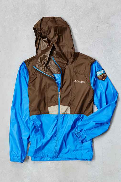 Columbia National Parks Edition Flashback Windbreaker Jacket,BROWN,M