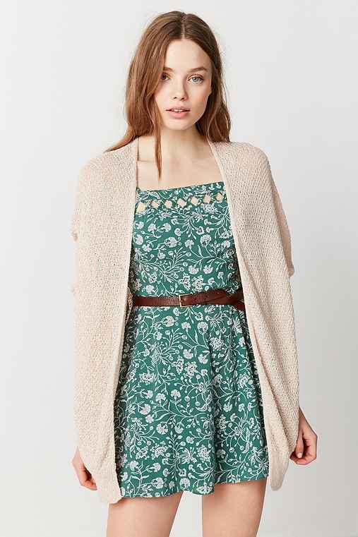 BDG Ivy Open Cardigan,PEACH,M