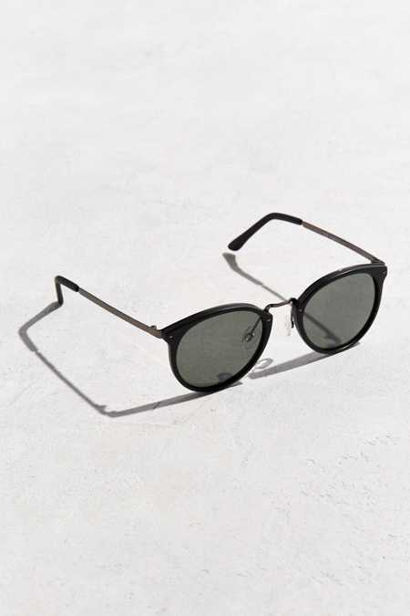 Icon Plastic Metal Round Sunglasses