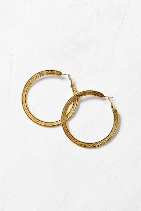 All Out Textured Hoop Earring
