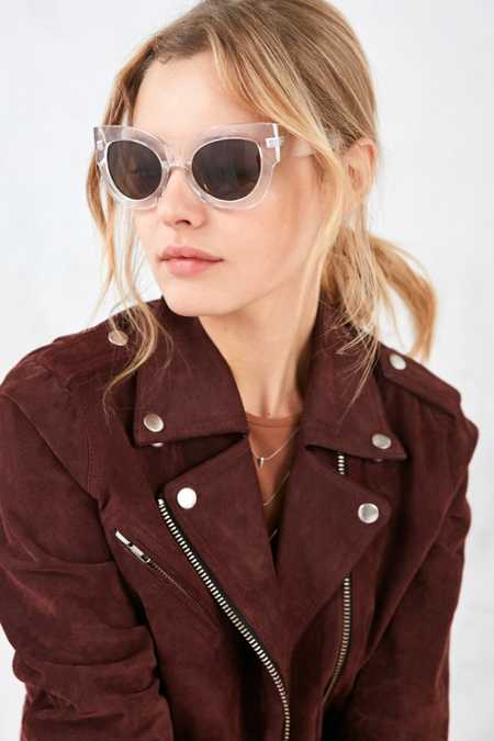 Nina Chunky Cat-Eye Sunglasses