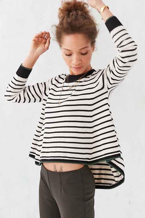 Alice & UO Hortense Swing Sweater,BLACK & WHITE,XS