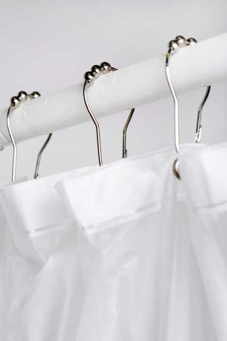 Metal Roller Shower Curtain Hooks Set