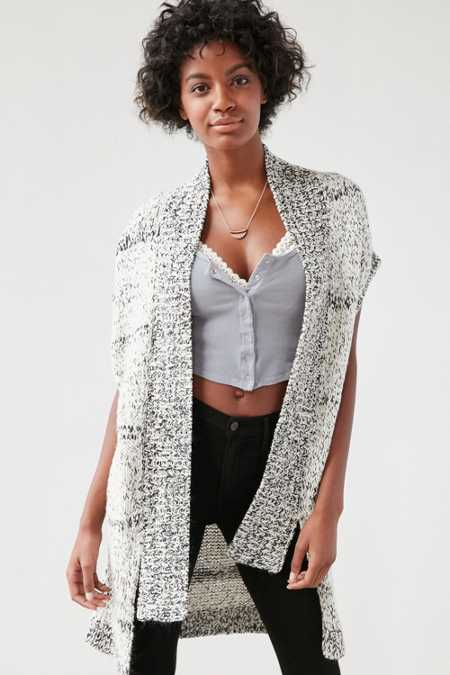 Ecote Drop-Shoulder Vest Cardigan
