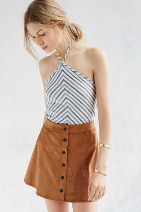 Silence + Noise Hill Stripe Halter Tank Top