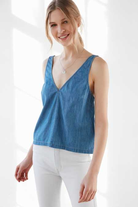 BDG Chambray Ray Tank Top