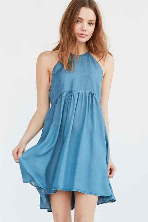 Kimchi Blue Dorence Denim Frock Dress,VINTAGE DENIM MEDIUM,M