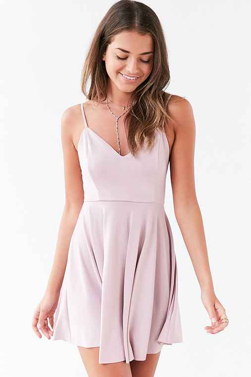 Kimchi Blue Valerina Strappy-Back Skater Dress,ROSE,S