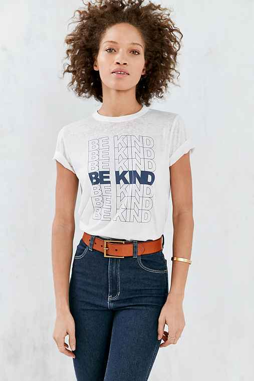 Future State Be Kind Burnout Tee,IVORY,XS