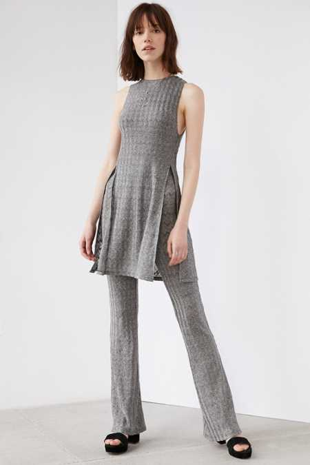 Ecote Shade Double Layer Flare Jumpsuit