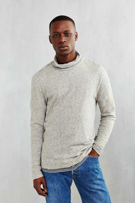 CPO Marled Drape Turtleneck Shirt