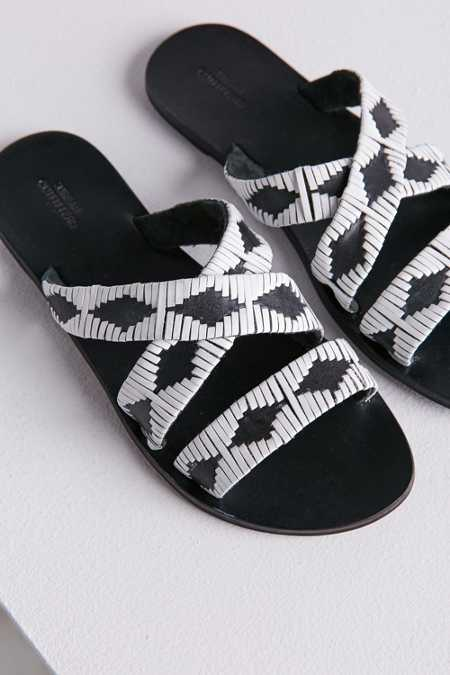 Mack Leather Woven Slide