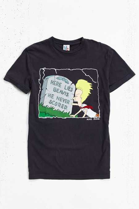 Junk Food Beavis Never Scored Tee