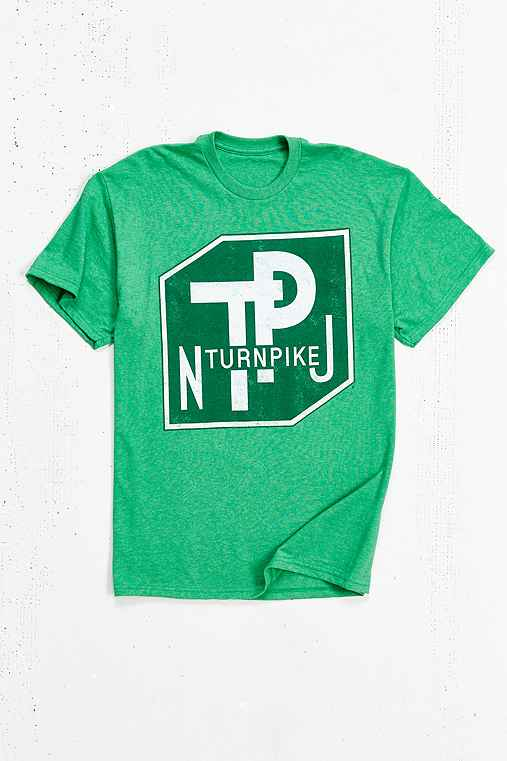 NJ Turnpike Tee,GREEN,S
