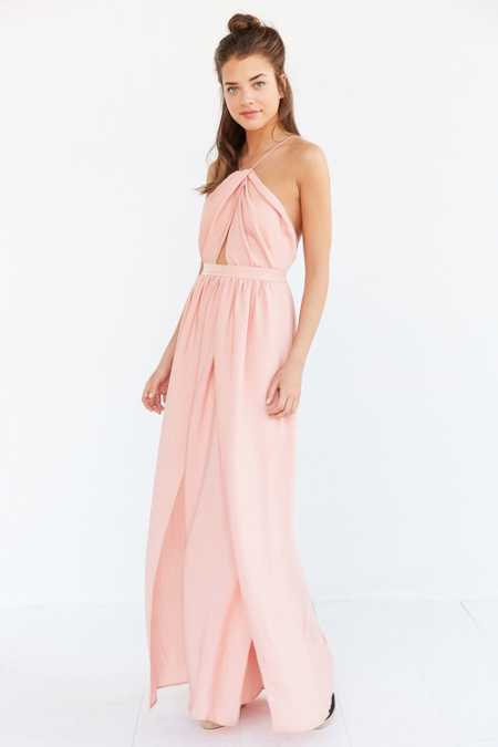 The Jetset Diaries Lotus High-Neck Maxi Dress