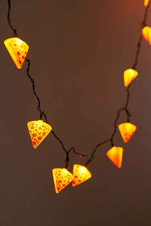 Pizza String Lights,BROWN,ONE SIZE