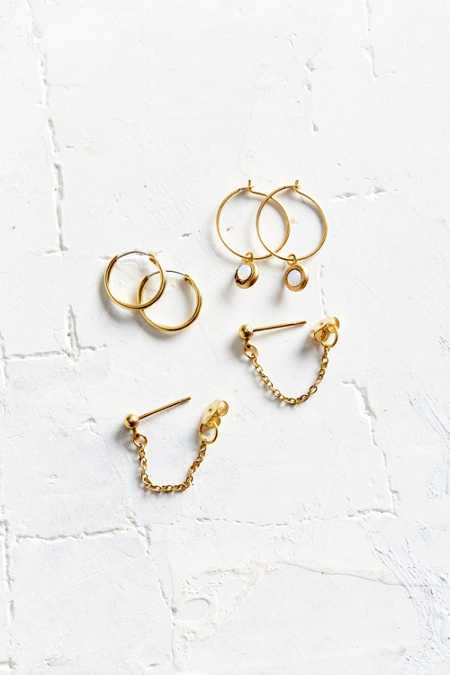 Cosmos Hoop + Post Earring Set