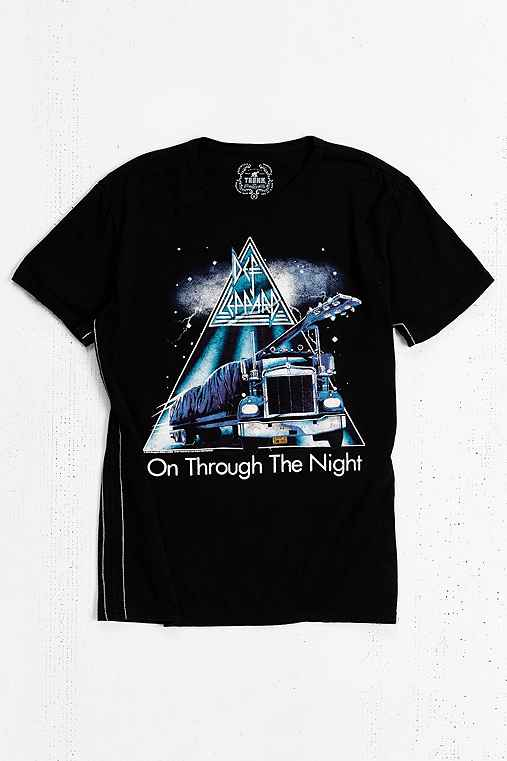 TRUNK LTD Def Leppard Destroyed Tee,BLACK,S