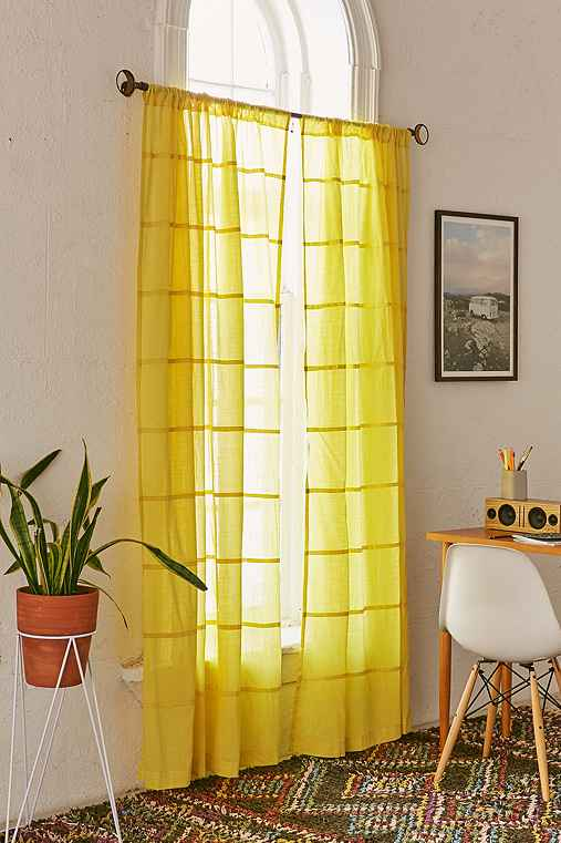 Pintucks Curtain,LIME,52X84