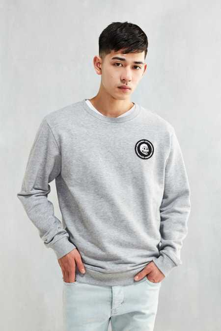 Cheap Monday Mini Skull Patch Crew Neck Sweatshirt