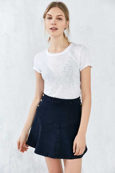 Cooperative Denim Yoke Skater Skirt