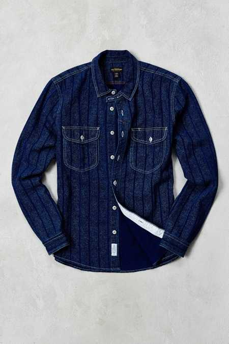 CPO Jaspe Workers Stripe Button-Down Shirt