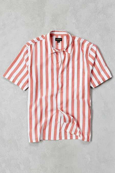 CPO Awning Stripe Short-Sleeve Button-Down Shirt
