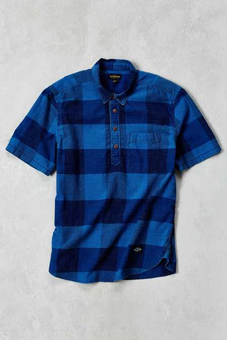 CPO Indigo Buffalo Short-Sleeve Popover Shirt