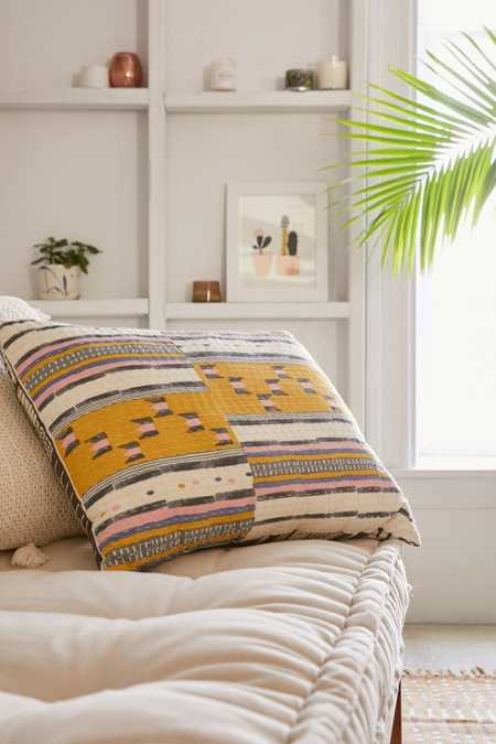 Lena Kantha Stripe Pillow