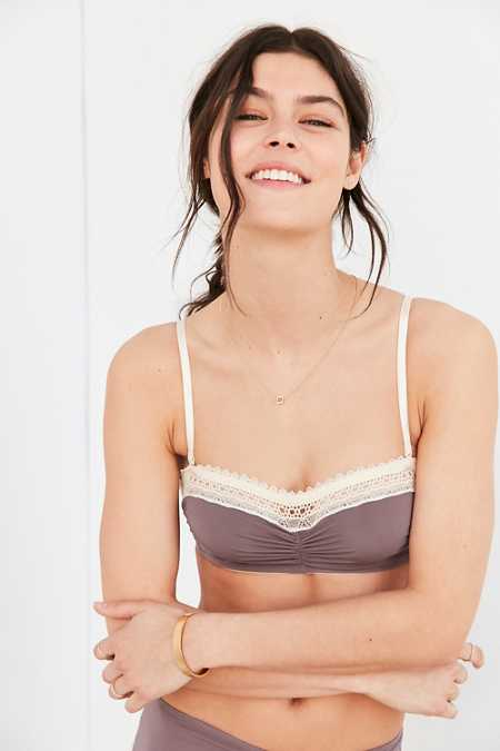 Out From Under Micro Lace Trim Bandeau Bra