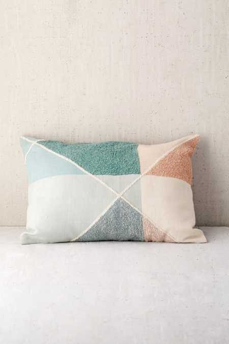 Crewel Colorblock Bolster Pillow