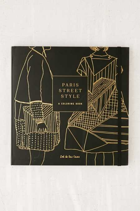Paris Street Style: A Coloring Book By Zoe de la Cases