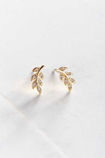 Sterling Silver + 18K Gold Leaf Earring
