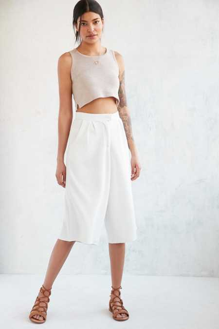 Native Youth Seersucker Culotte Pant