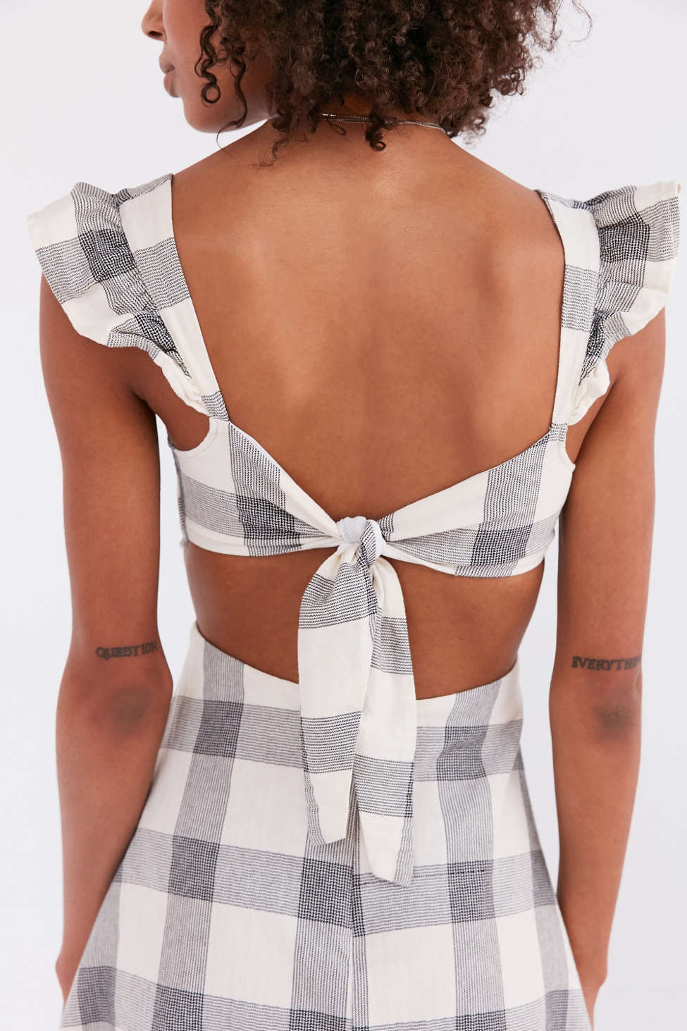 Cute gingham check mini dress