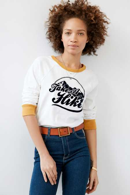 Truly Madly Deeply Take A Hike Raglan Sweatshirt