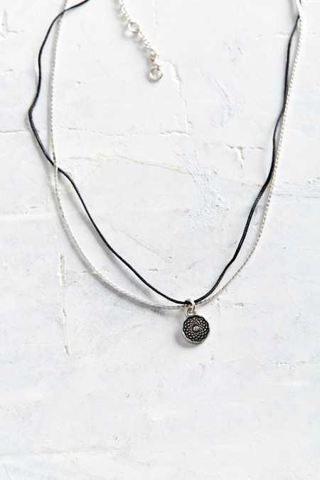 Shine Black Charm Necklace