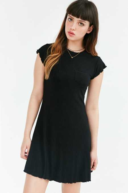 BDG Camper Pocket Ribbed Dress
