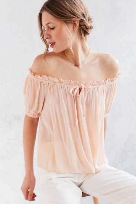 BOG Collective Cap Sleeve Off-The-Shoulder Blouse