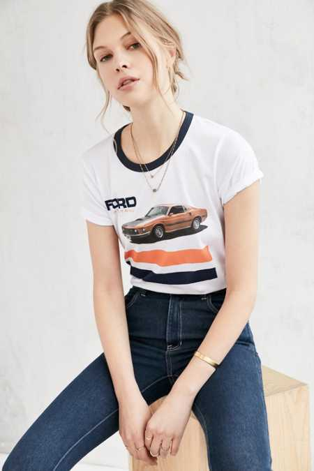 Junk Food Ford Mustang Ringer Tee