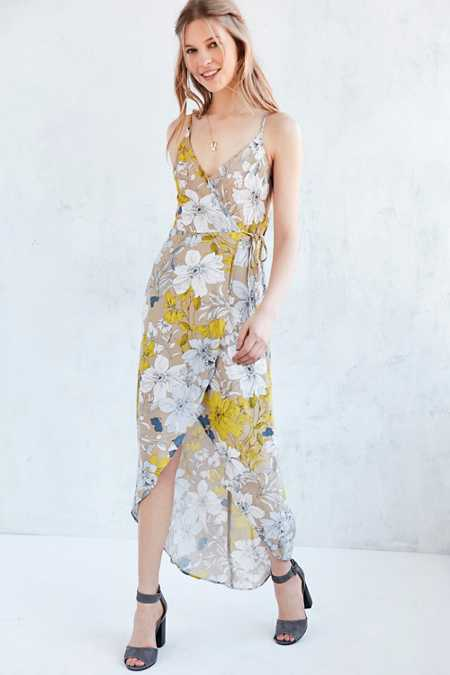 ASTR Donna Floral Maxi Wrap Dress